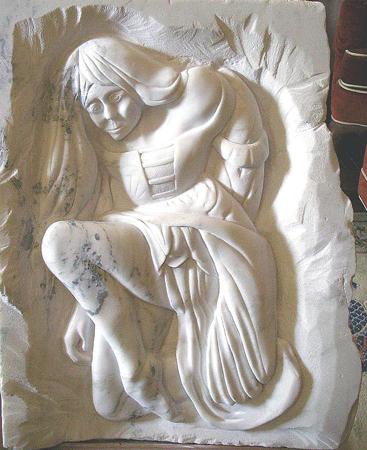 Midieval Maiden Relief By Gary Stull
