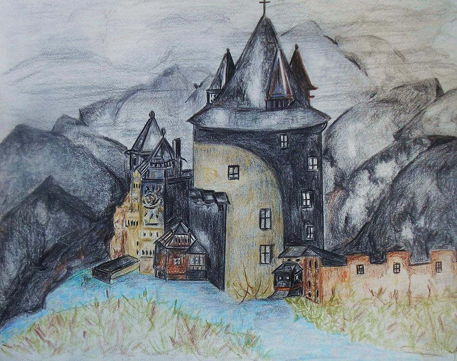 Castles Pastel - Midievil Castle by Deborah Gorga