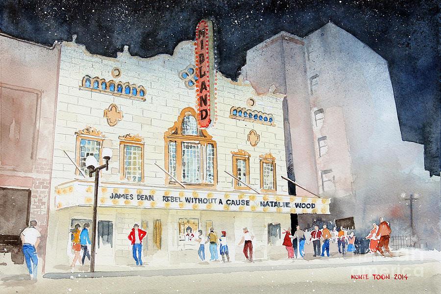 Kansas Painting - Midland Theatre by Monte Toon
