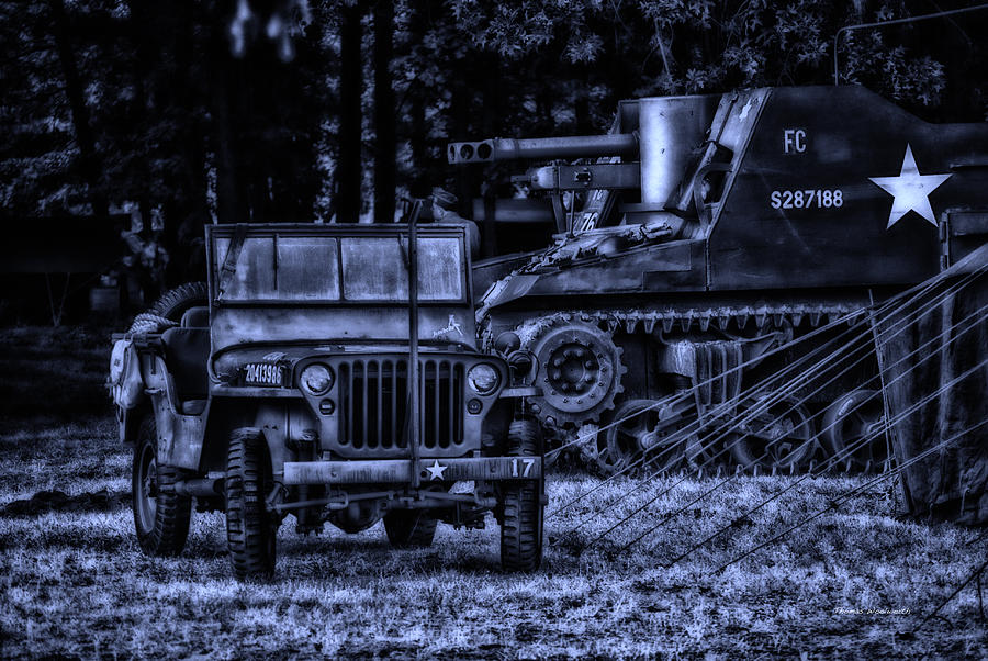 Surrealist Photograph - Midnight Battle And All Is Quite On The Front Lines by Thomas Woolworth