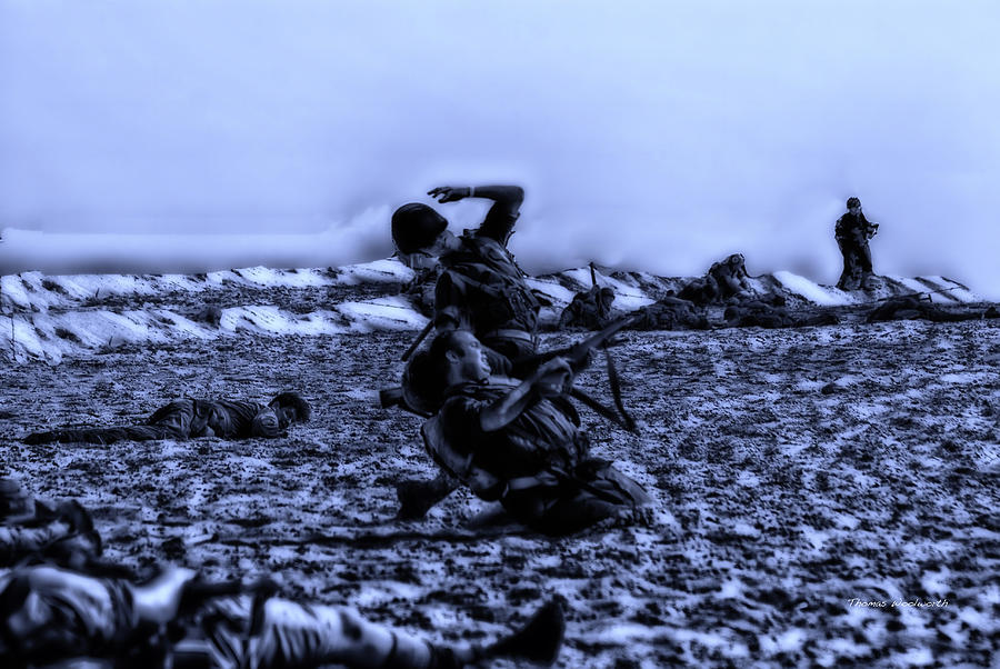 Surrealist Photograph - Midnight Battle Men Down by Thomas Woolworth