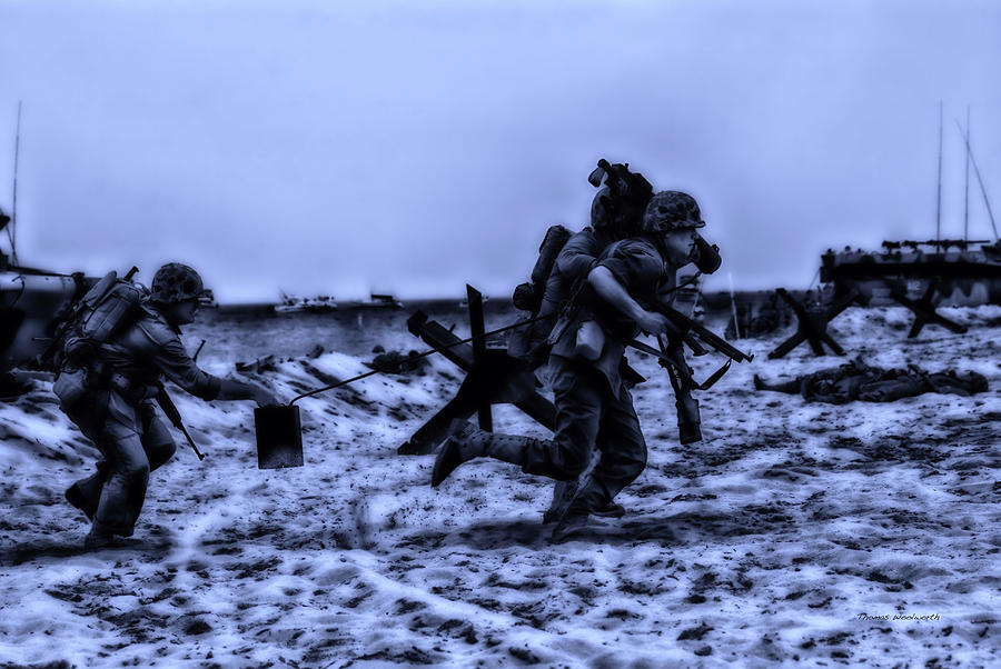 Surrealist Photograph - Midnight Battle Stay Close by Thomas Woolworth