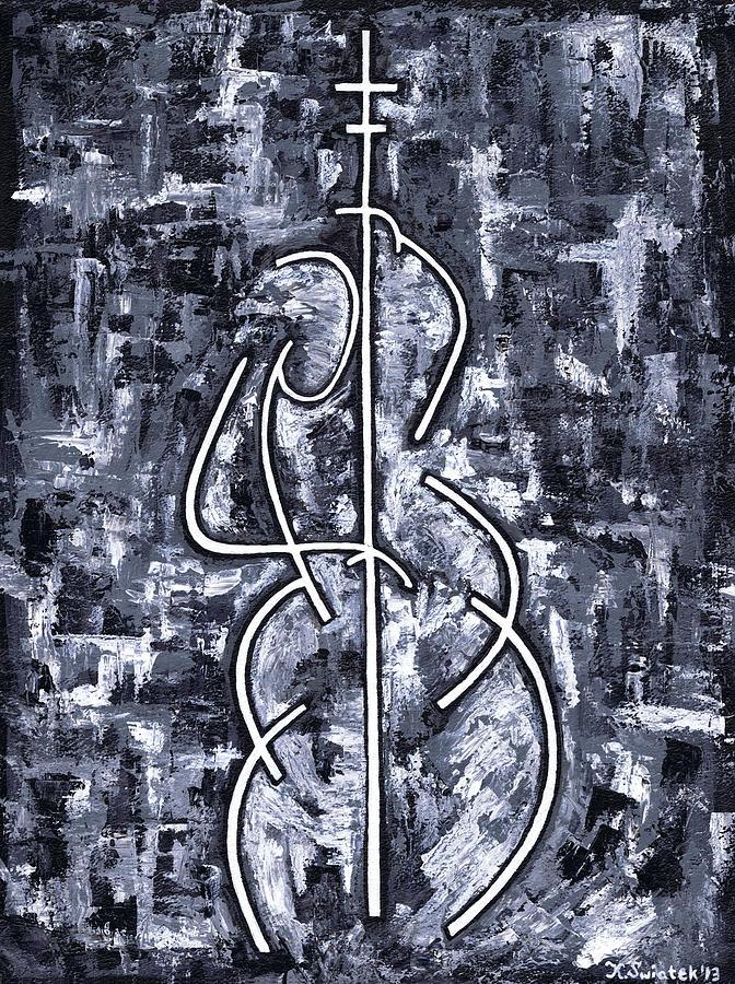 Midnight Blue Painting - Midnight Blue by Kamil Swiatek