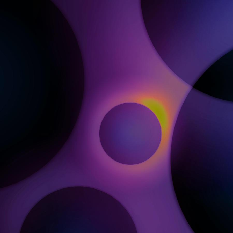 Purple Digital Art - Midnight Droplets by Ashley King