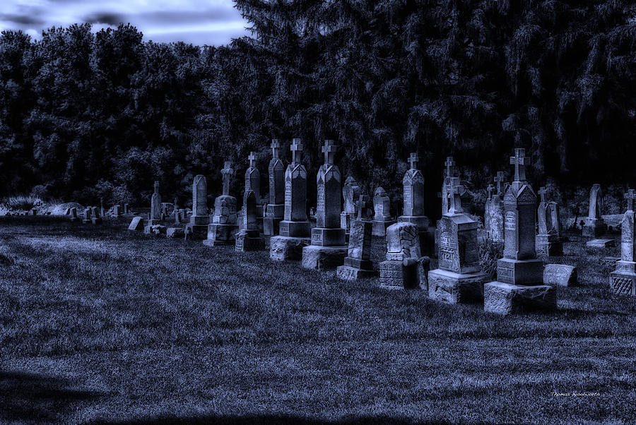 Surrealist Photograph - Midnight In The Garden Of Stones by Thomas Woolworth