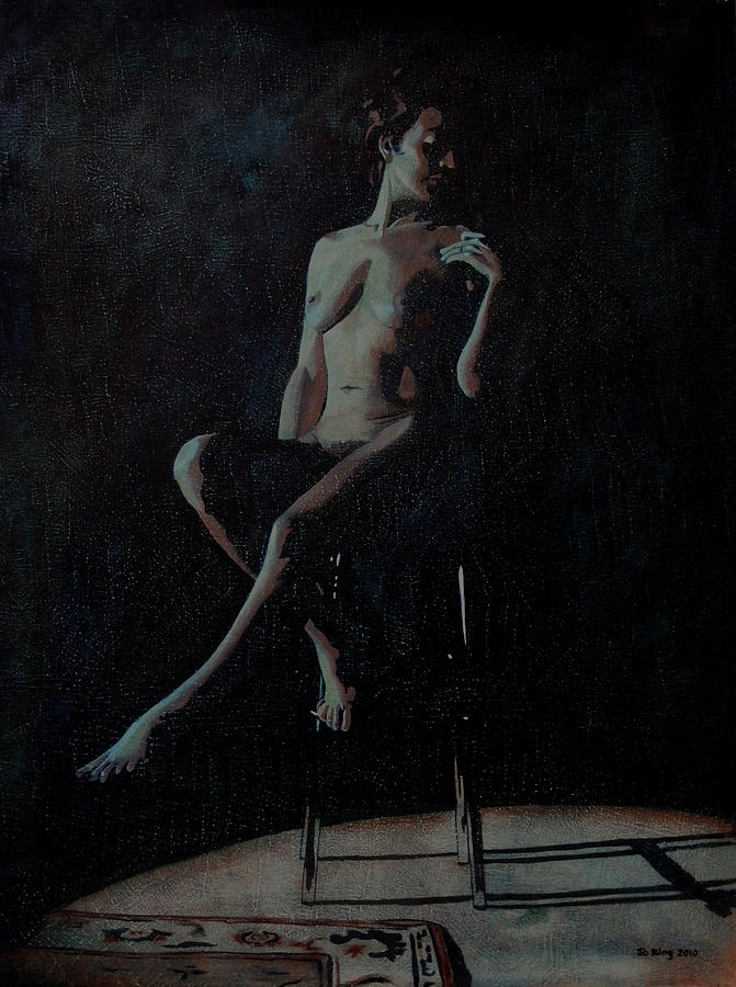 Nude Painting - Midnight by Jo King