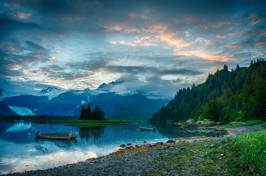 Midnight Lagoon Alaska by George Buxbaum