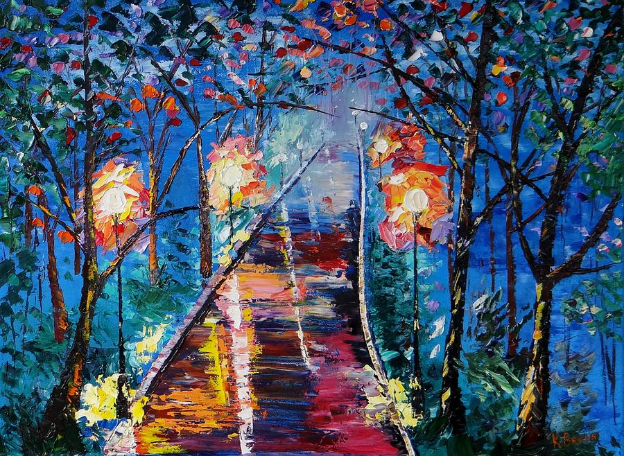 Night Paintings Painting - Midnight Lights by Kevin  Brown