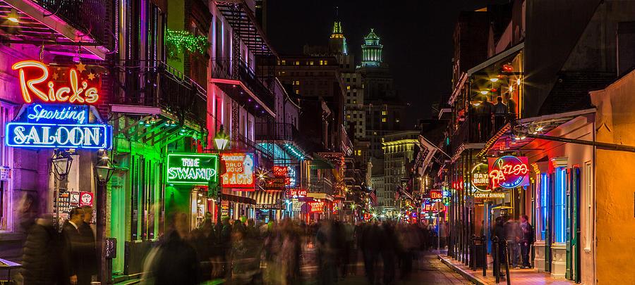 Bourbon Street Photograph - Midnight On Bourbon Street by John McGraw