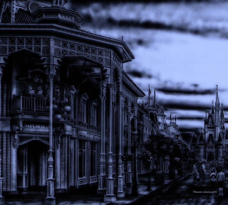 Surrealist Photograph - Midnight On Main Street Disney World by Thomas Woolworth