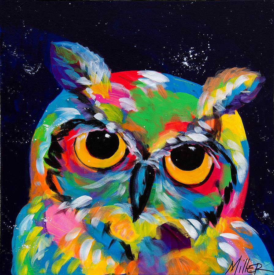 colorful owl painting wwwpixsharkcom images