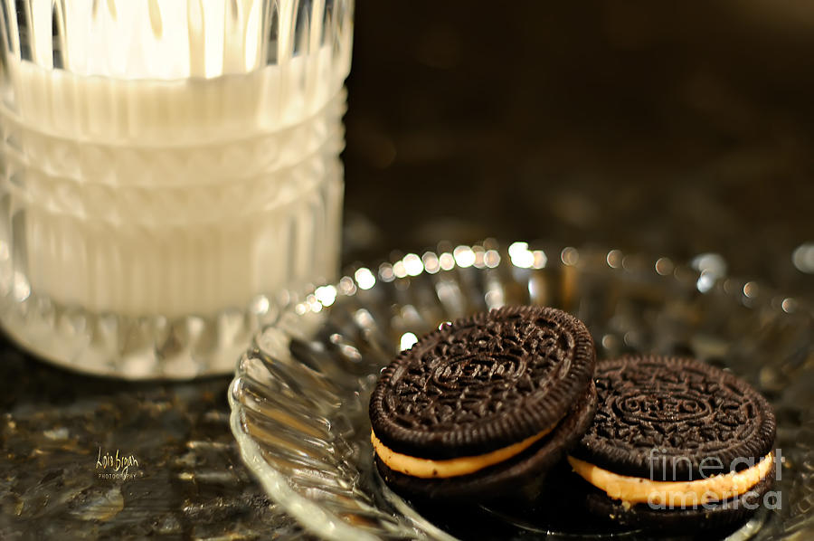 Cookies Photograph - Midnight Snack by Lois Bryan