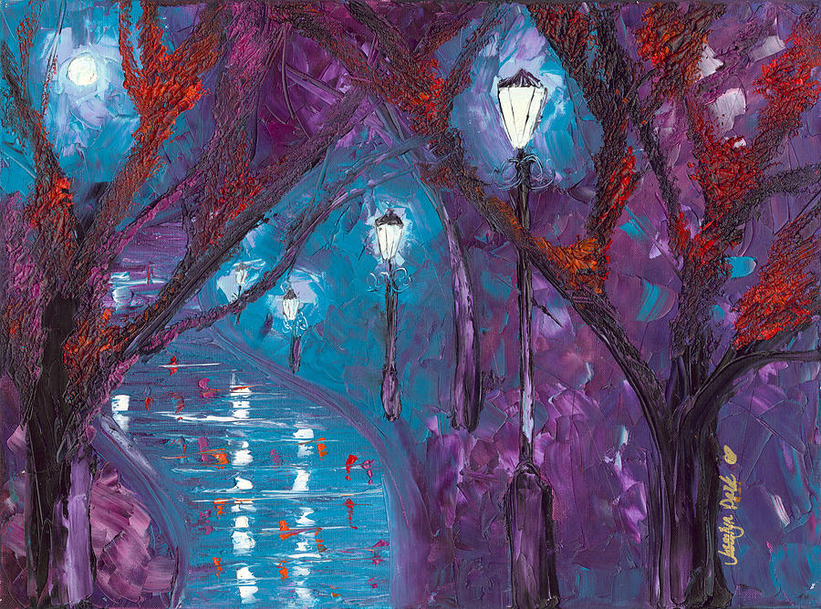 Night Painting - Midnight Soliloquy  by Jessilyn Park