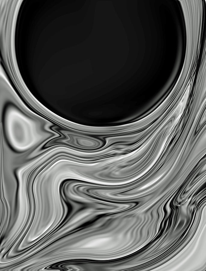 Abstract Digital Art - Midnight Sun by Chad Miller