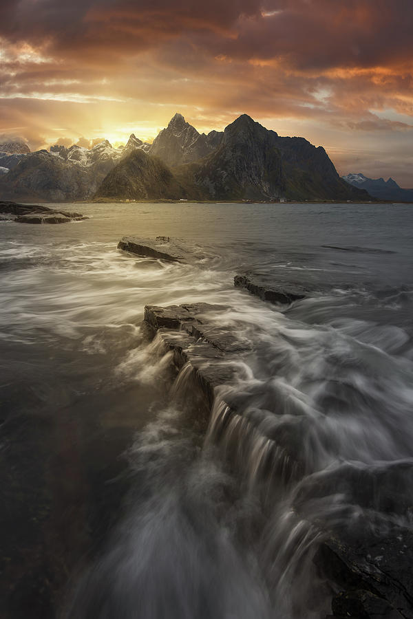 Travel Photograph - Midnight Sun II by David Mart?n Cast?n