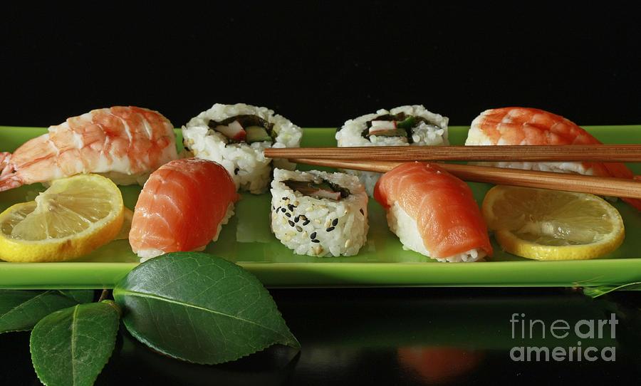 Midnight Sushi Indulgence Photograph - Midnight Sushi Indulgence by Inspired Nature Photography Fine Art Photography