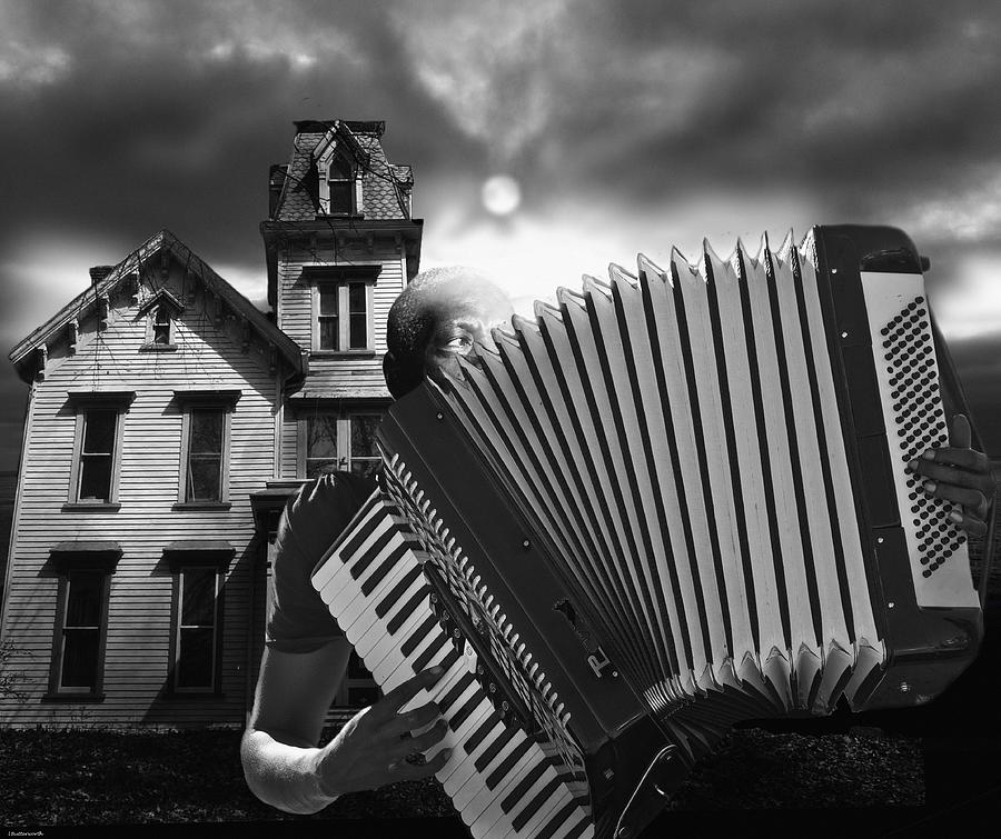 Music Digital Art - Zydeco Blues by Larry Butterworth