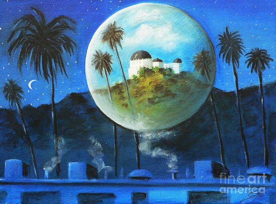 Surreal Painting - Midnights Dream In Los Feliz by S G