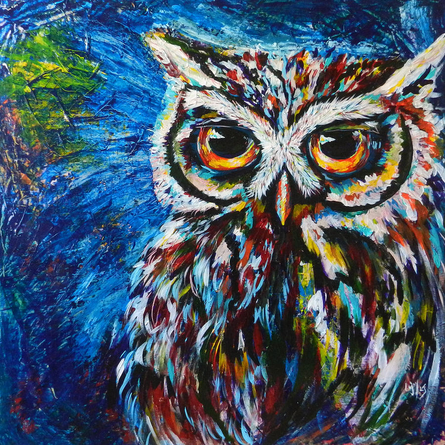midnite owl painting by lovejoy creations