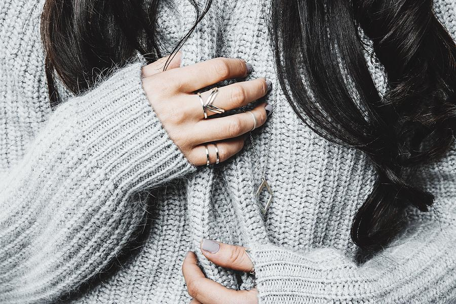 Midsection Of Woman In Warm Clothing Photograph by Anna Kravtsova / EyeEm
