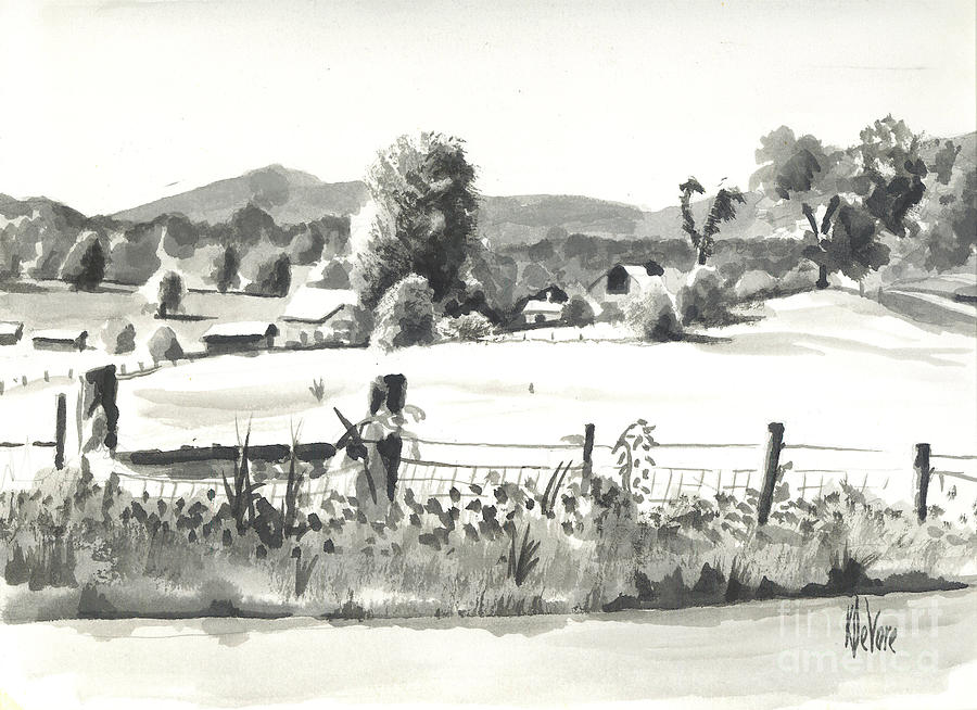 Landscape Painting - Midsummer View Out Route Jj   No I101 by Kip DeVore