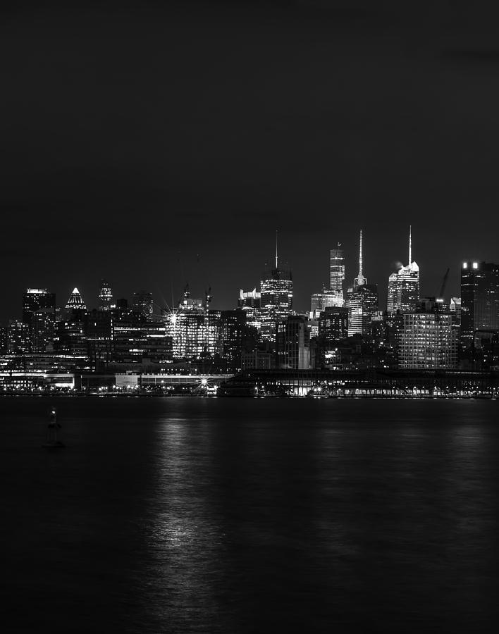Midtown Manhattan Skyline Triptych Left Photograph
