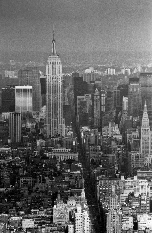Empire State Building Photograph - Midtown Manhattan Winter 1980s by Gary Eason