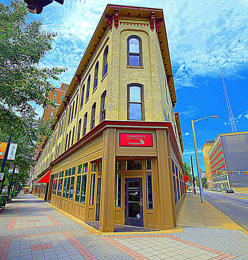 Building Photograph - Midwest Flat Iron Building by Garry Schmidt