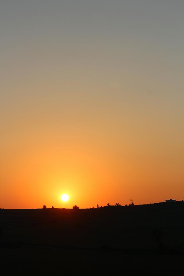 Sunset Photograph - Midwest Sunset by Angie Phillips aka Angieclementine