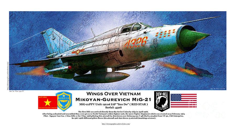 Mig 21 by Kenneth De Tore