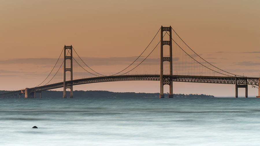Emmet County Photograph - Mighty Mac by Thomas Pettengill