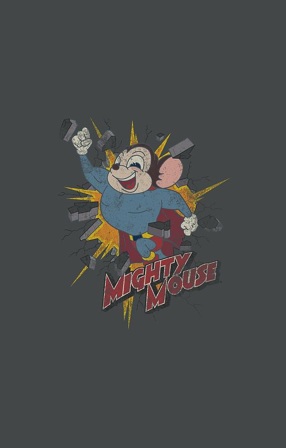 Mighty Mouse Digital Art - Mighty Mouse - Break Through by Brand A