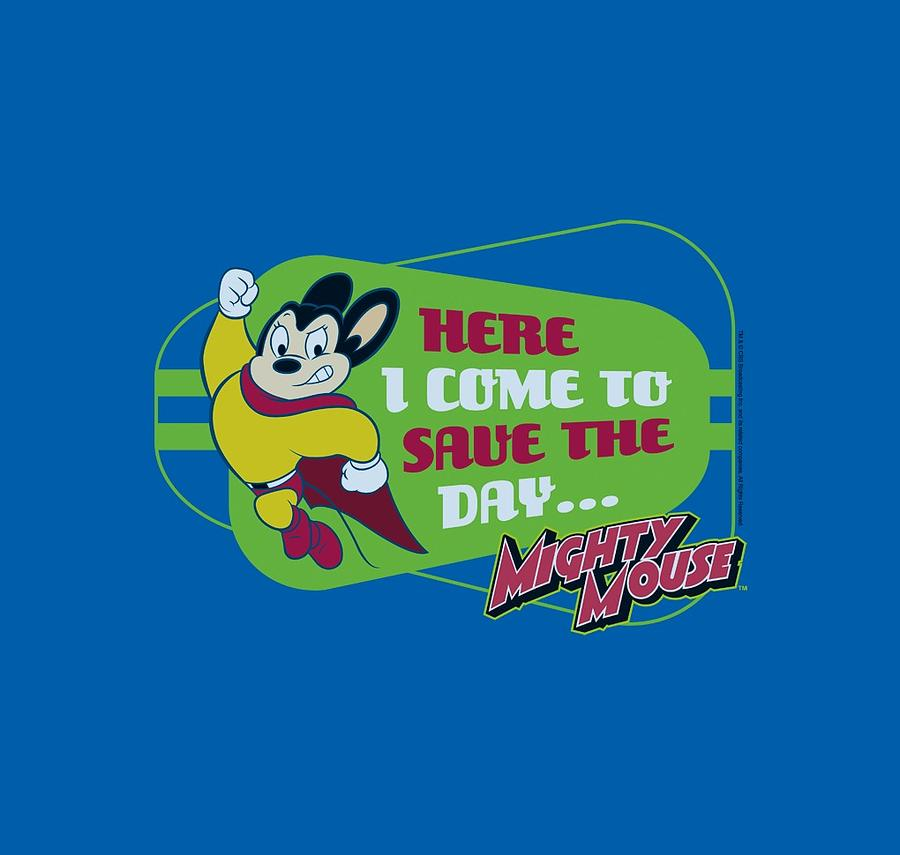 Mighty Mouse Digital Art - Mighty Mouse - Here I Come by Brand A