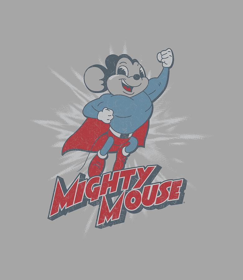Mighty Mouse Digital Art - Mighty Mouse - Mighty Blast Off by Brand A