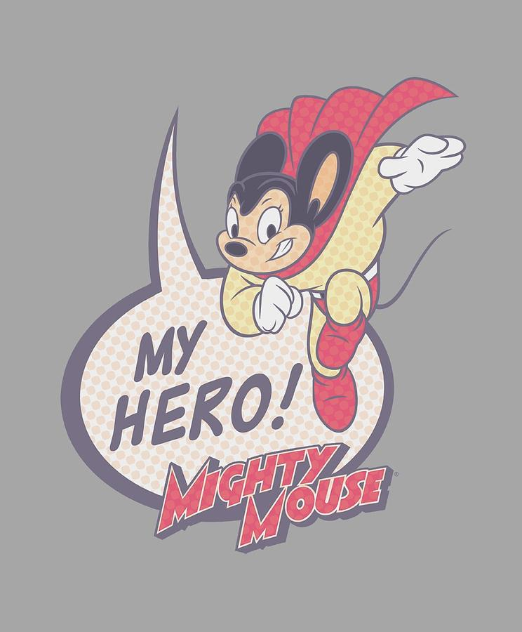 Mighty Mouse Digital Art - Mighty Mouse - My Hero by Brand A