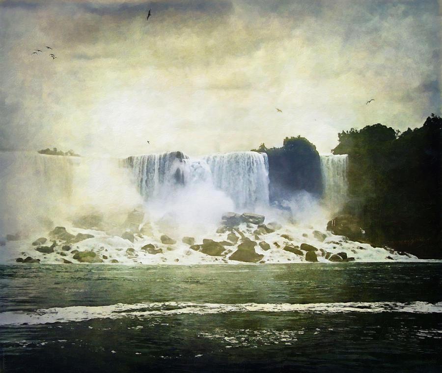 Niagara Falls Digital Art - Mighty Niagara by Lianne Schneider