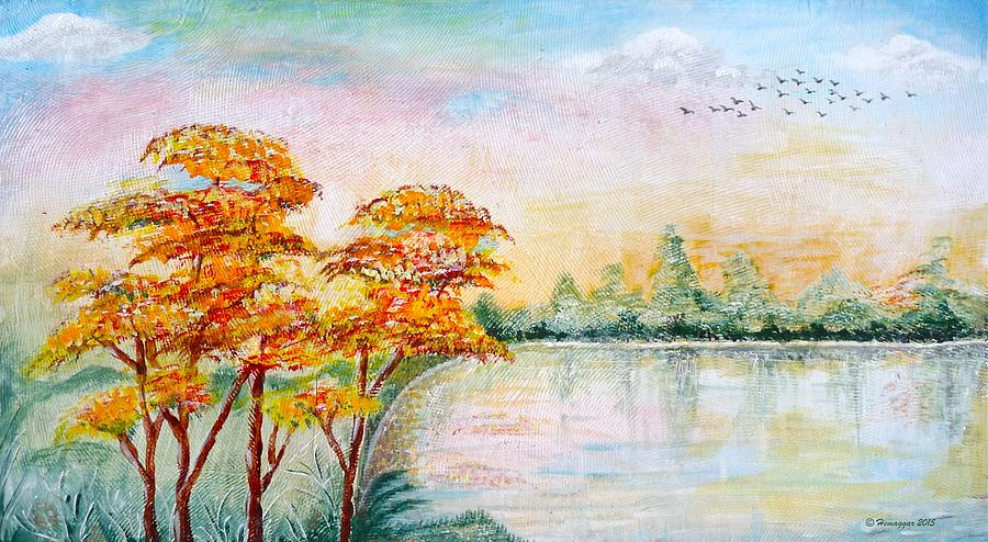 Birds Painting - Migration by Hemu Aggarwal
