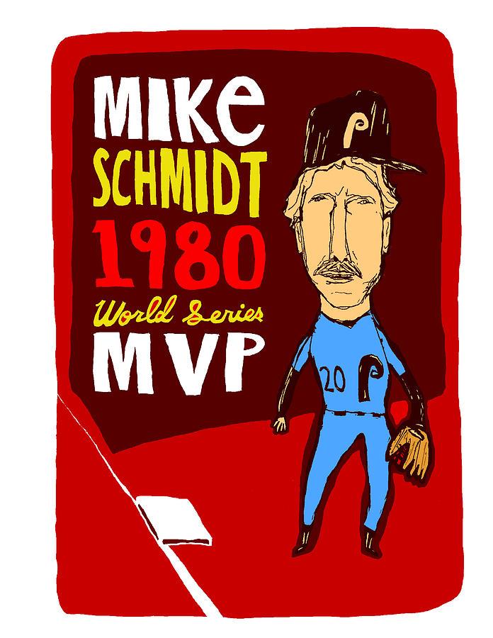 Mike Schmidt Mixed Media - Mike Schmidt Philadelphia Phillies by Jay Perkins