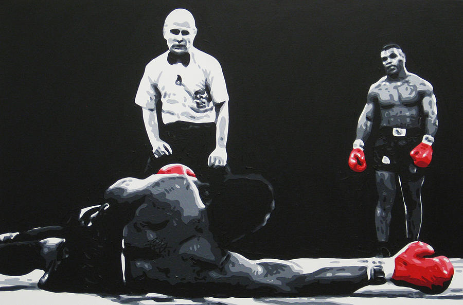 Mike Tyson 3 Painting By Geo Thomson