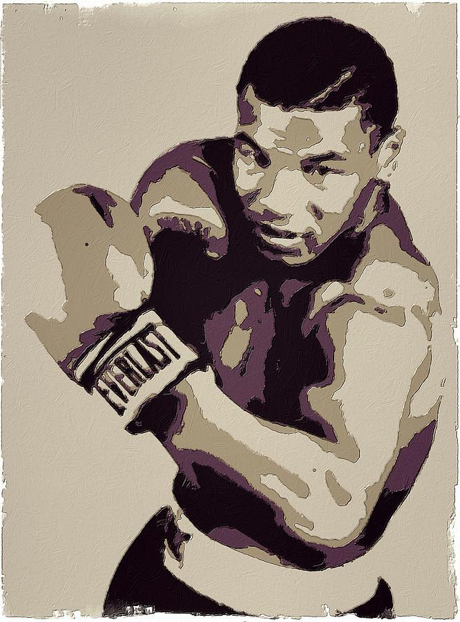 Mike Tyson Painting - Mike Tyson Poster Art by Florian Rodarte