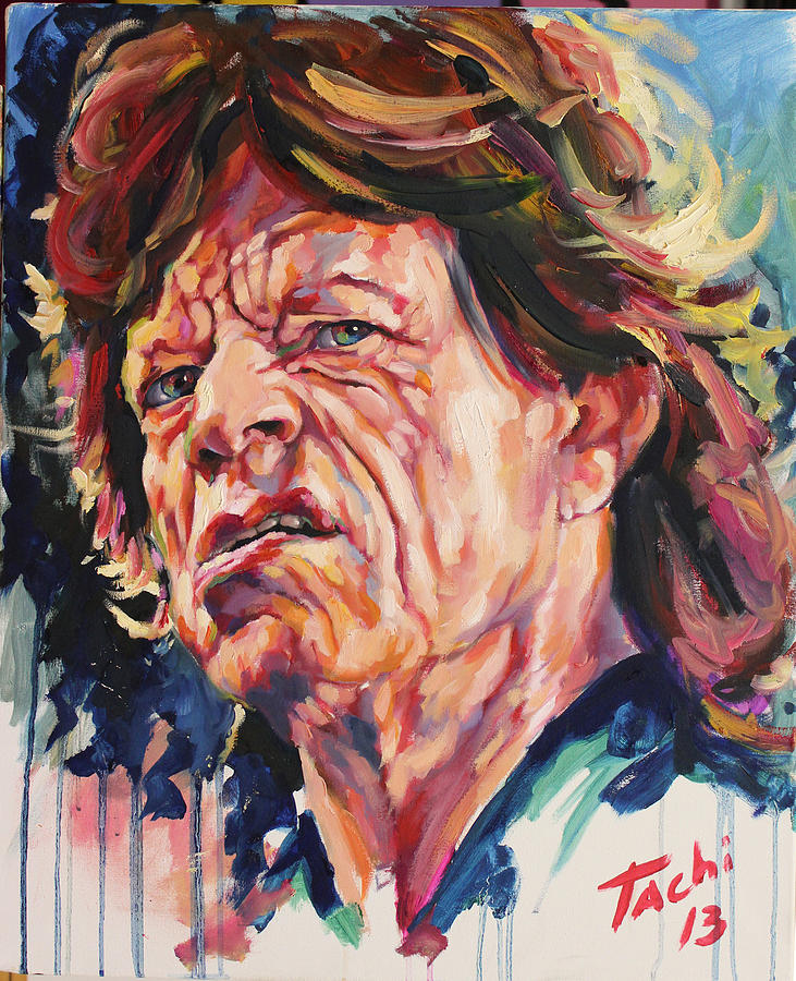 Mike Jagger Painting - Mikle - 2 by Tachi Pintor
