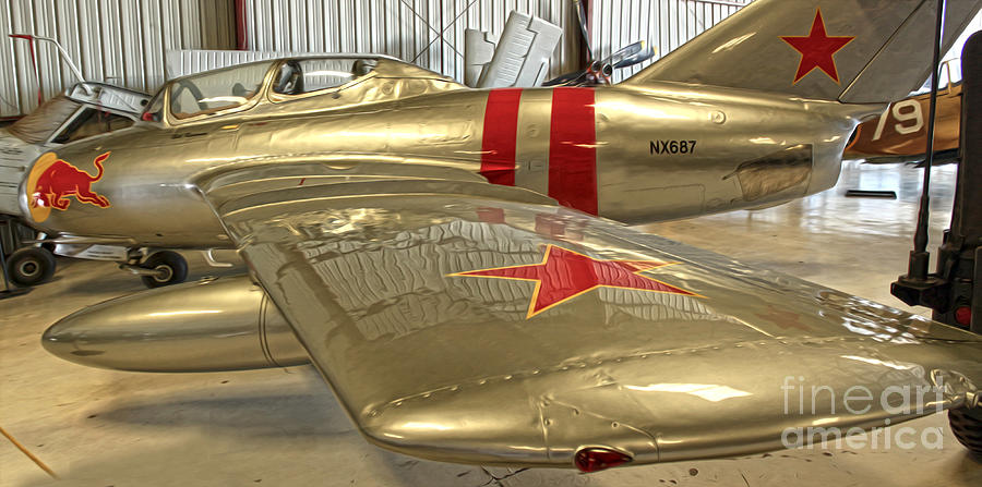 Airplanes Photograph - Mikoya-gurevich Fagot Mig-15 by Gregory Dyer