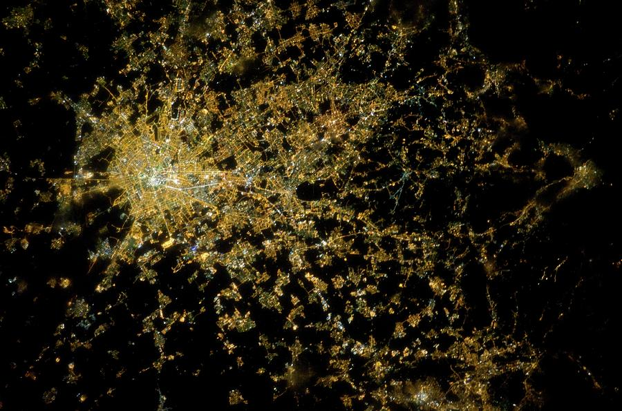 City Photograph - Milan At Night From Space by Nasa/science Photo Library