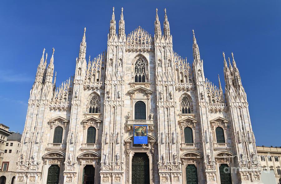 Ancient Photograph - Milan Cathedral  by Antonio Scarpi