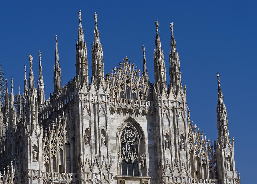 Ancient Photograph - Milano Dome Detail by Ioan Panaite