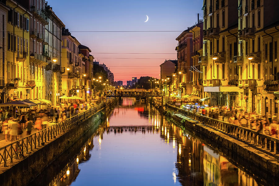 Milano, Naviglio Grande Photograph by Deimagine