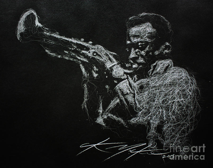 Miles Davis Drawing - Miles by Chris Mackie
