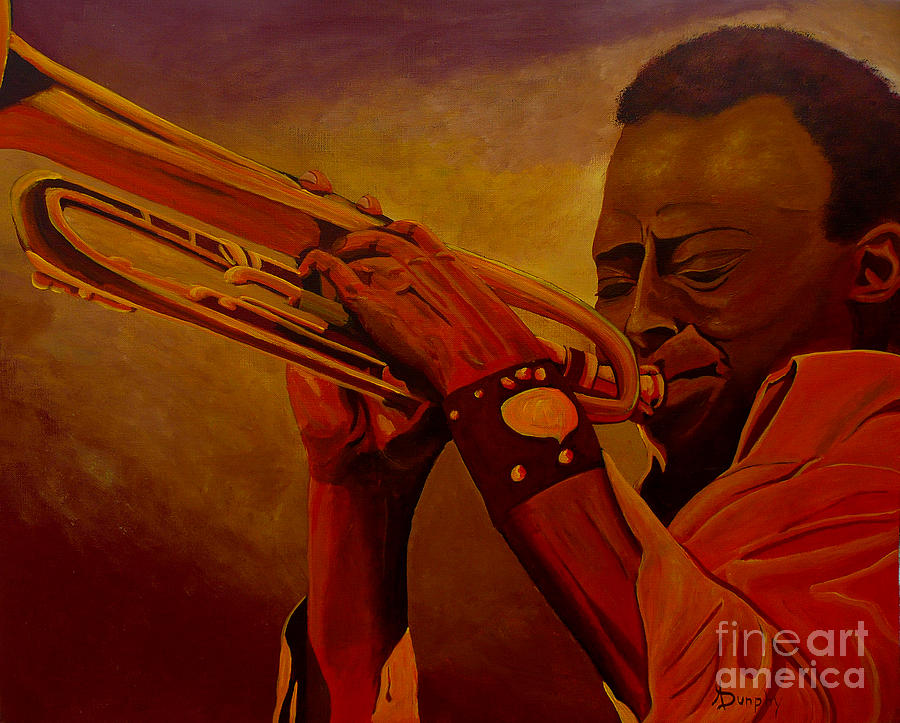 Miles Davis Painting - Miles Davis by Anthony Dunphy
