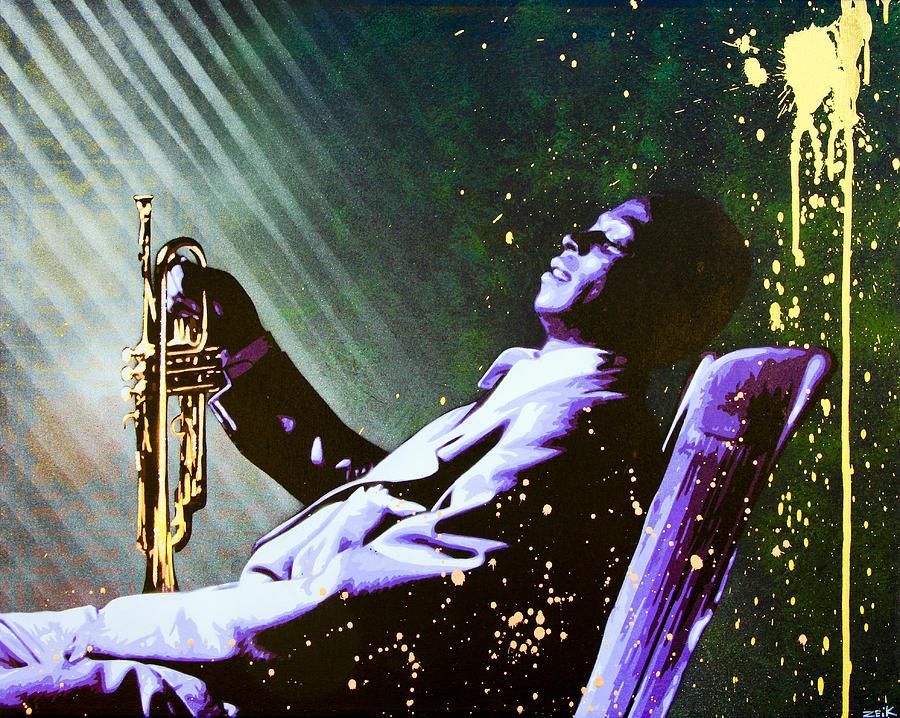 Miles Davis Painting - Miles Davis by Bobby Zeik