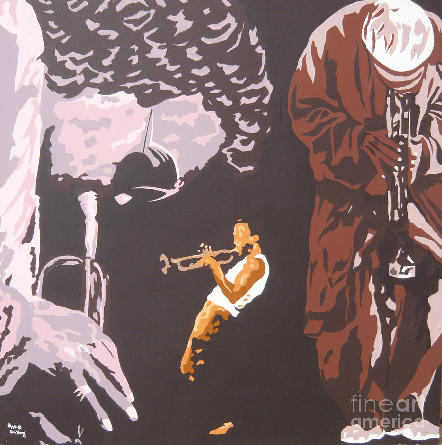 Miles Davis Painting - Miles Davis II by Ronald Young
